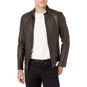 Michael Kors Racing Jacket Nappa Leather Brown XL